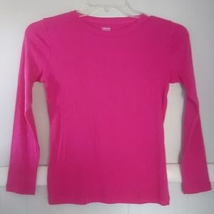 NWOT Cherokee pink basic long sleeve tee